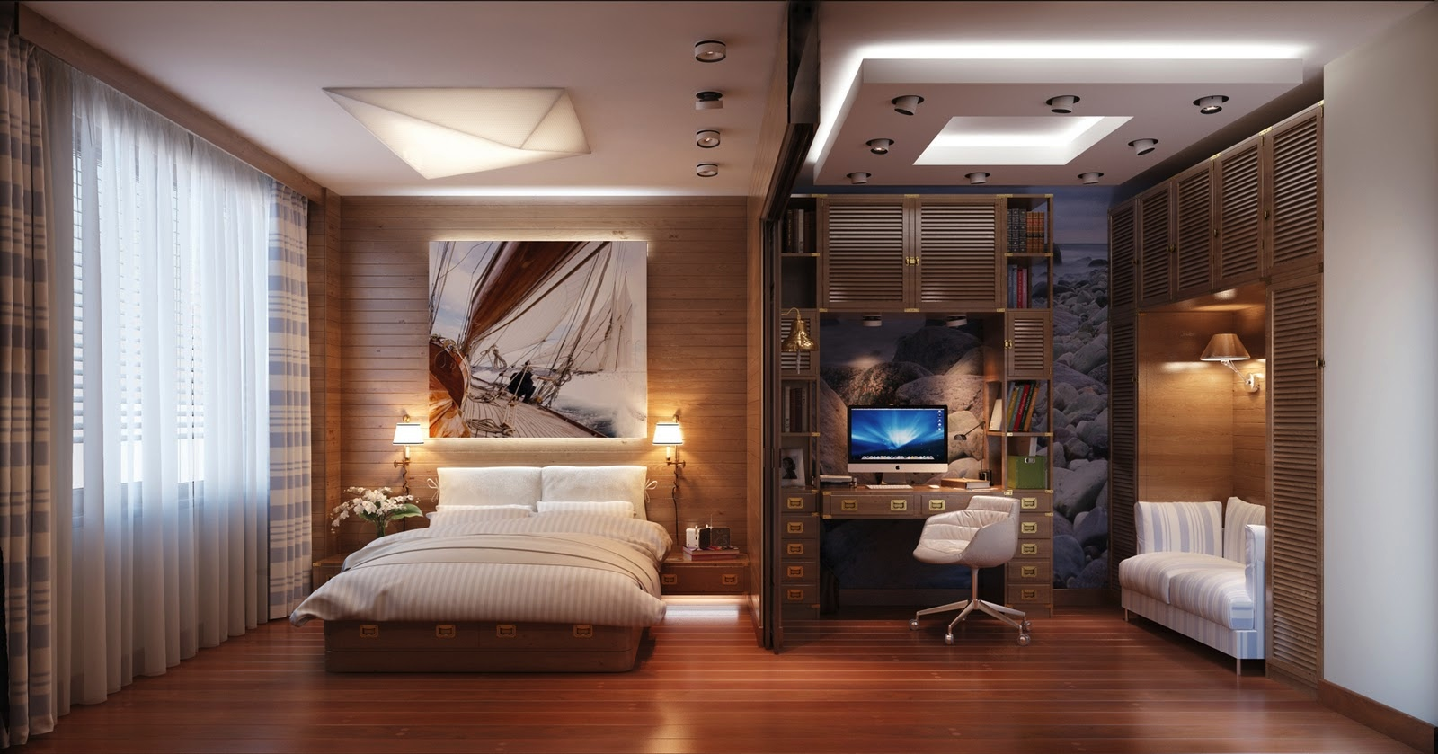 Luxury Bedroom office design